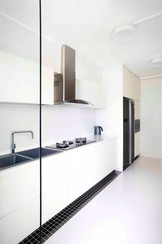 Traditional, HDB, Kitchen, Boon Keng, Interior Designer, Free Space Intent, Sink, Bathroom, Indoors, Interior Design, Room