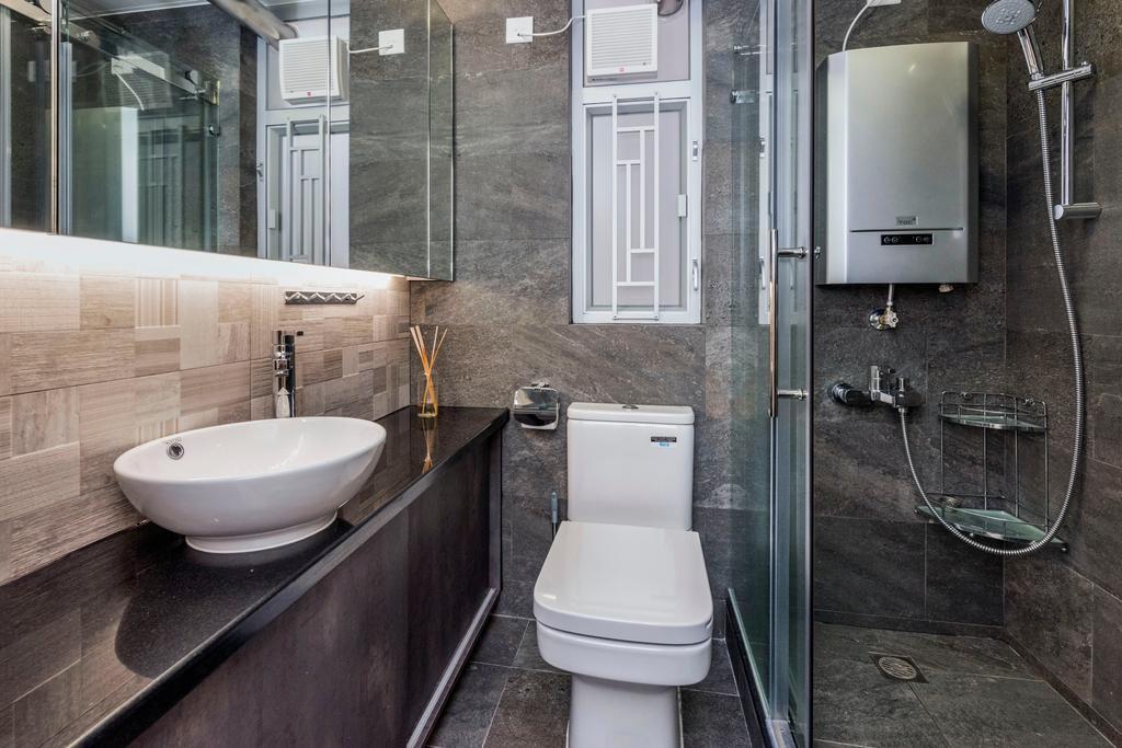 私家樓, 浴室, 富嘉花園, 室內設計師, CREATIVE Interior Design Engineering, Toilet, Indoors, Interior Design, Room