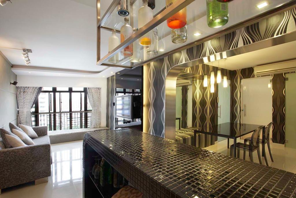 Traditional, HDB, Kitchen, Boon Keng, Interior Designer, Free Space Intent