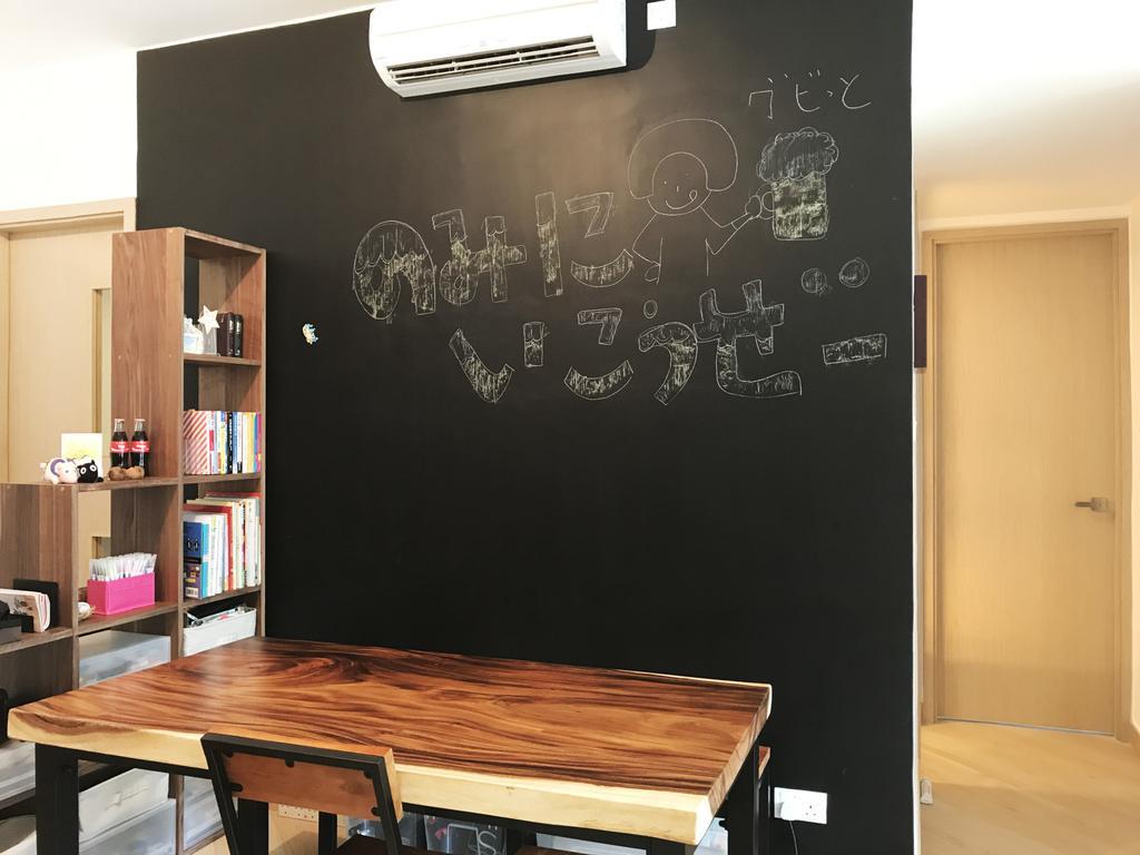 私家樓, 客廳, 昇薈, 室內設計師, CREATIVE Interior Design Engineering, Blackboard, Bookcase, Furniture, Plywood, Wood