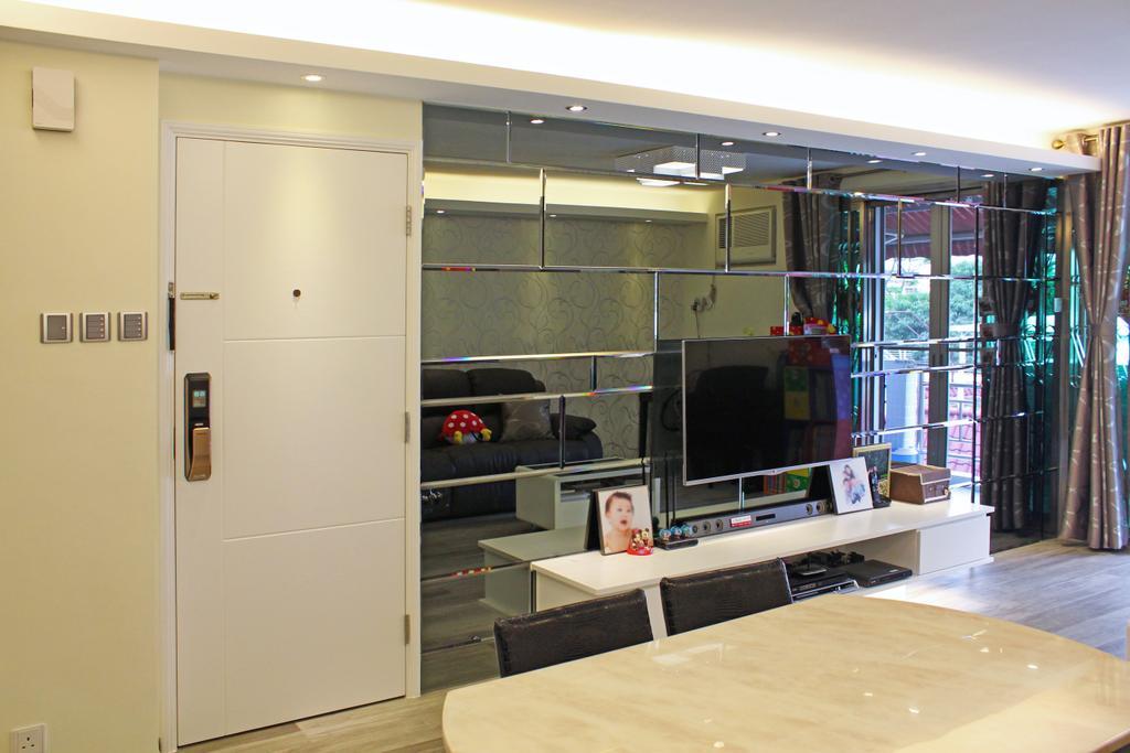 公屋/居屋, 客廳, 灰窰下村, 室內設計師, CREATIVE Interior Design Engineering