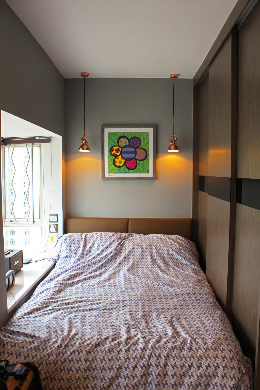 摩登, 私家樓, 睡房, 沙田第一城, 室內設計師, CREATIVE Interior Design Engineering, 隨性, Indoors, Interior Design, Room, Art