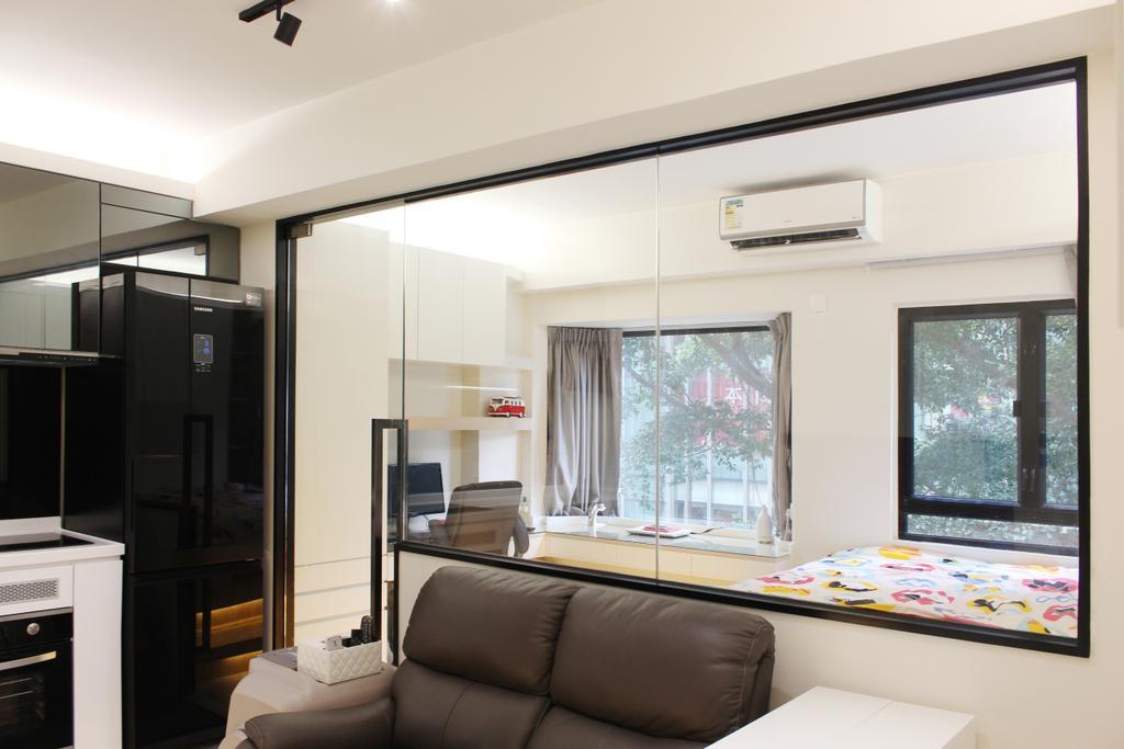 私家樓, 客廳, 益基大廈, 室內設計師, CREATIVE Interior Design Engineering, Indoors, Interior Design