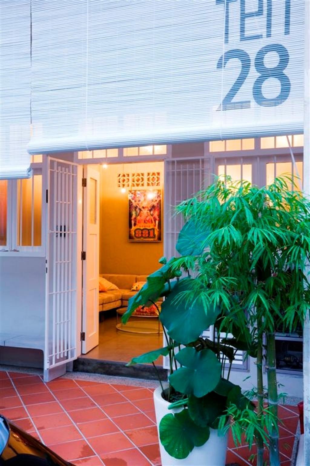 Eclectic, Landed, Living Room, Tanjong Katong Shophouse, Interior Designer, Free Space Intent, Couch, Furniture, Door, Folding Door