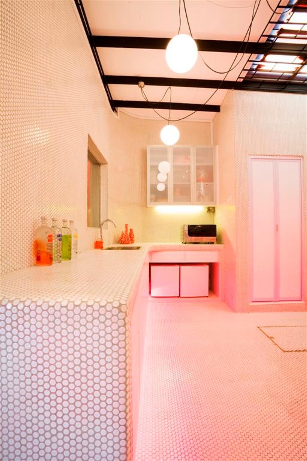 Eclectic, Landed, Kitchen, Tanjong Katong Shophouse, Interior Designer, Free Space Intent, Bathroom, Indoors, Interior Design, Room