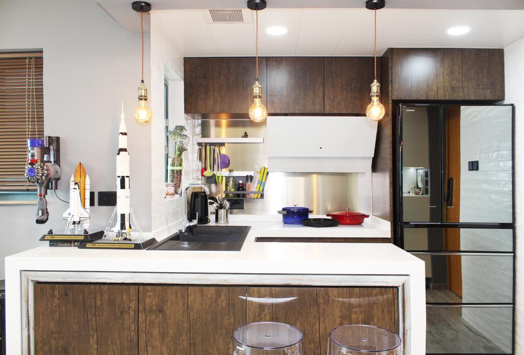 摩登, 私家樓, 客廳, 碧海藍天, 室內設計師, CREATIVE Interior Design Engineering, Indoors, Interior Design, 廚房, Room