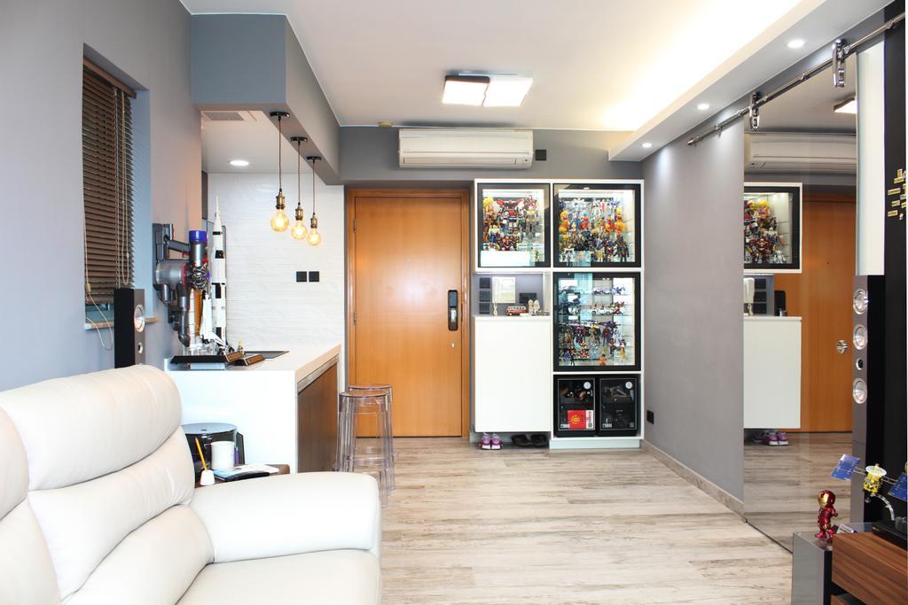摩登, 私家樓, 客廳, 碧海藍天, 室內設計師, CREATIVE Interior Design Engineering, Indoors, Interior Design