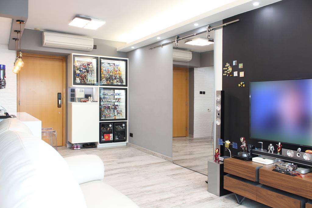 摩登, 私家樓, 客廳, 碧海藍天, 室內設計師, CREATIVE Interior Design Engineering, Indoors, Interior Design, 公屋/居屋, Building, Housing