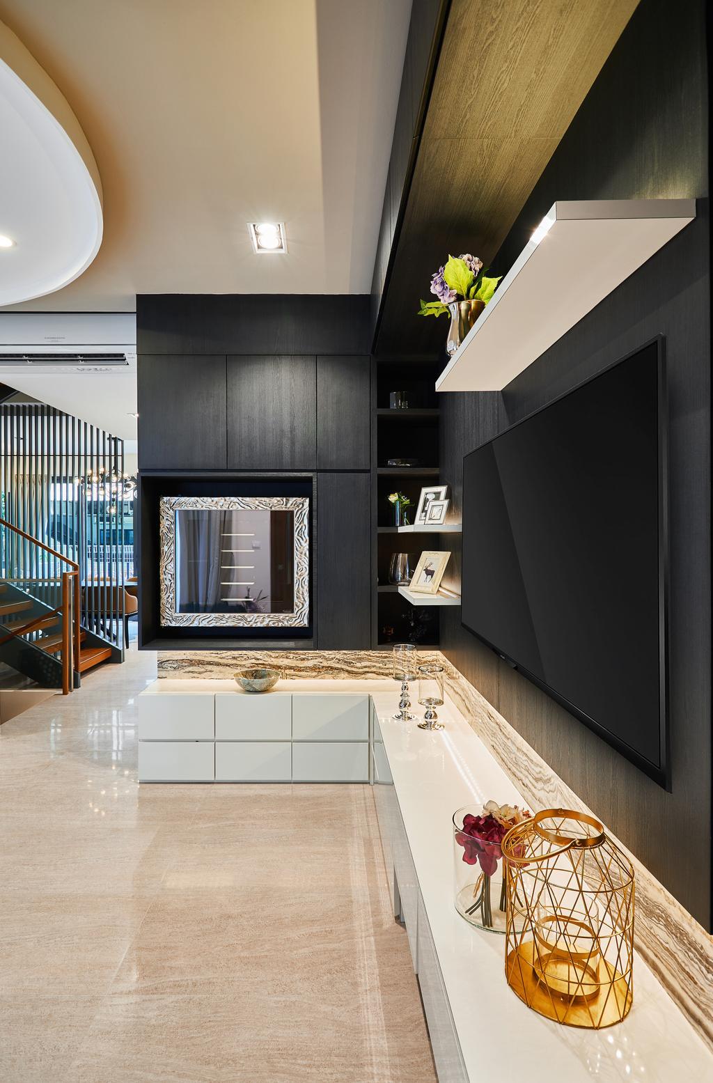 Condo, Living Room, One Surin, Interior Designer, Black N White Haus