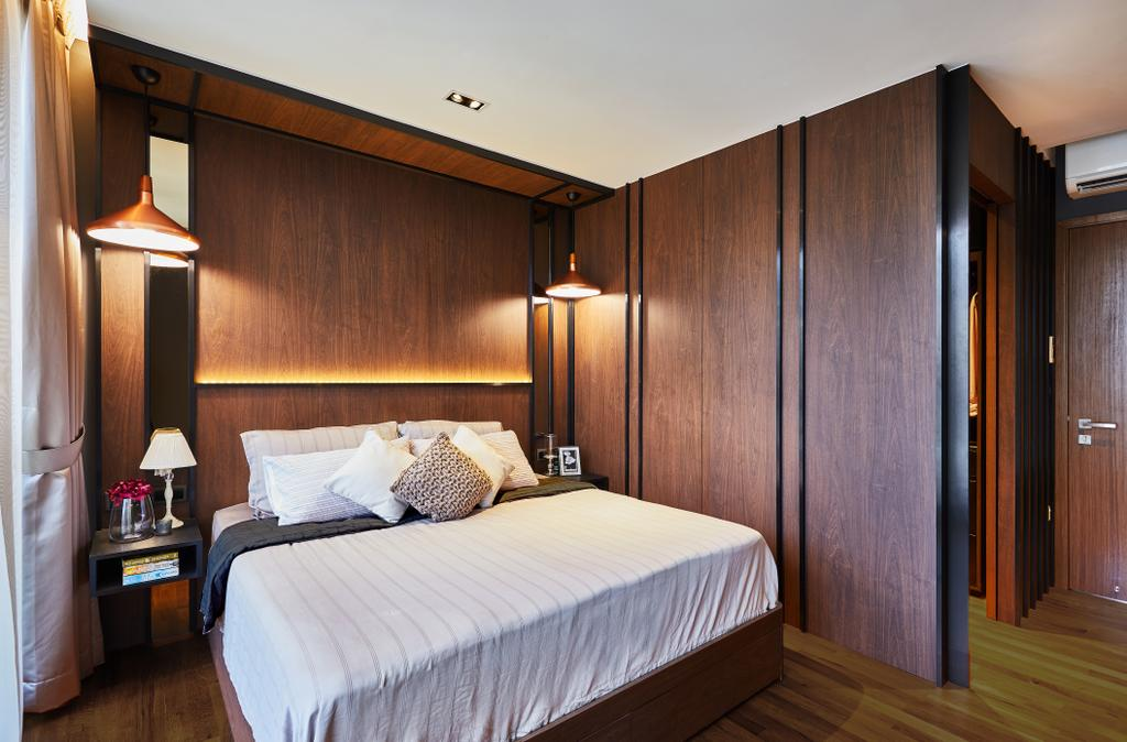 Condo, Bedroom, One Surin, Interior Designer, Black N White Haus, Bed, Furniture