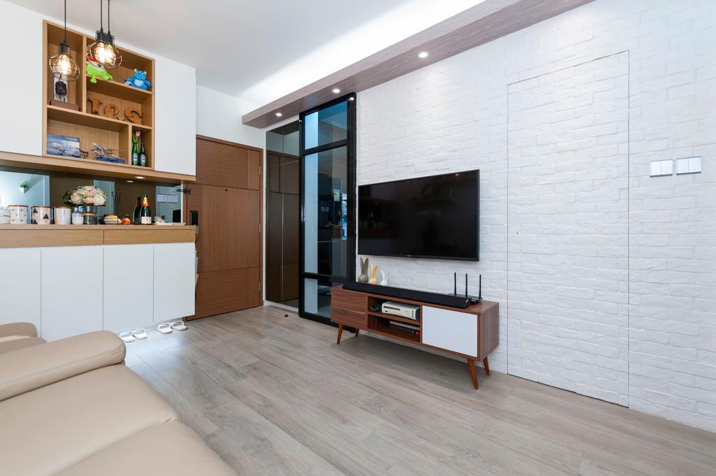 北歐, 私家樓, 青怡花園, 室內設計師, CREATIVE Interior Design Engineering, Furniture, Sideboard, Indoors, Interior Design