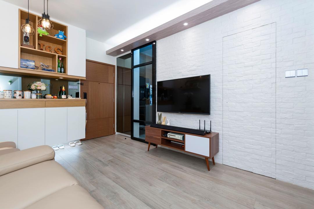 青怡花園, CREATIVE Interior Design Engineering, 北歐, 私家樓, Furniture, Sideboard, Indoors, Interior Design