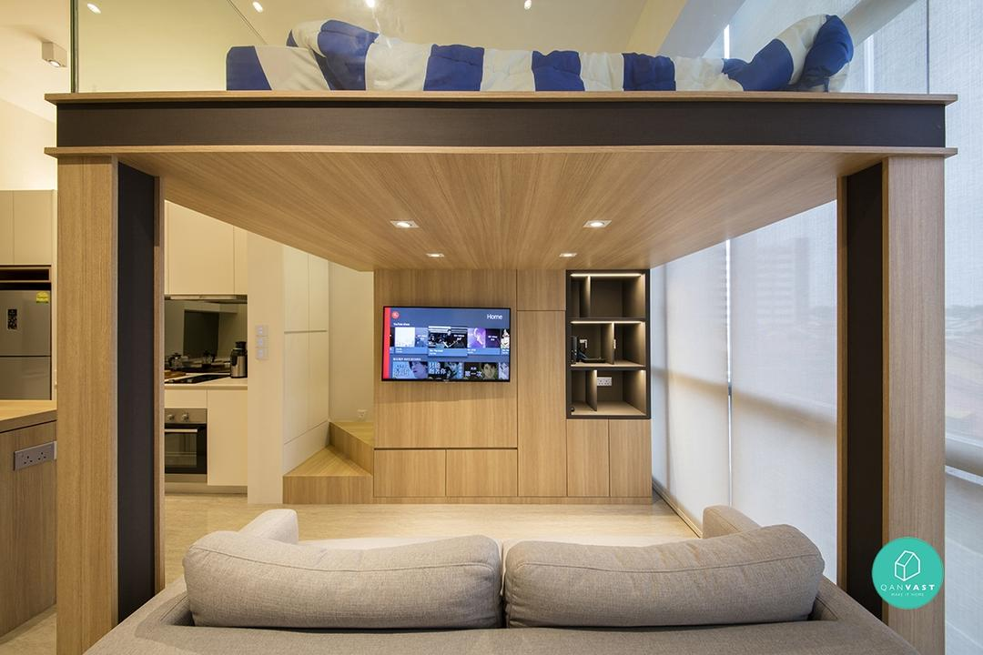Maximise Small Space - 1-Bedder Room Ideas