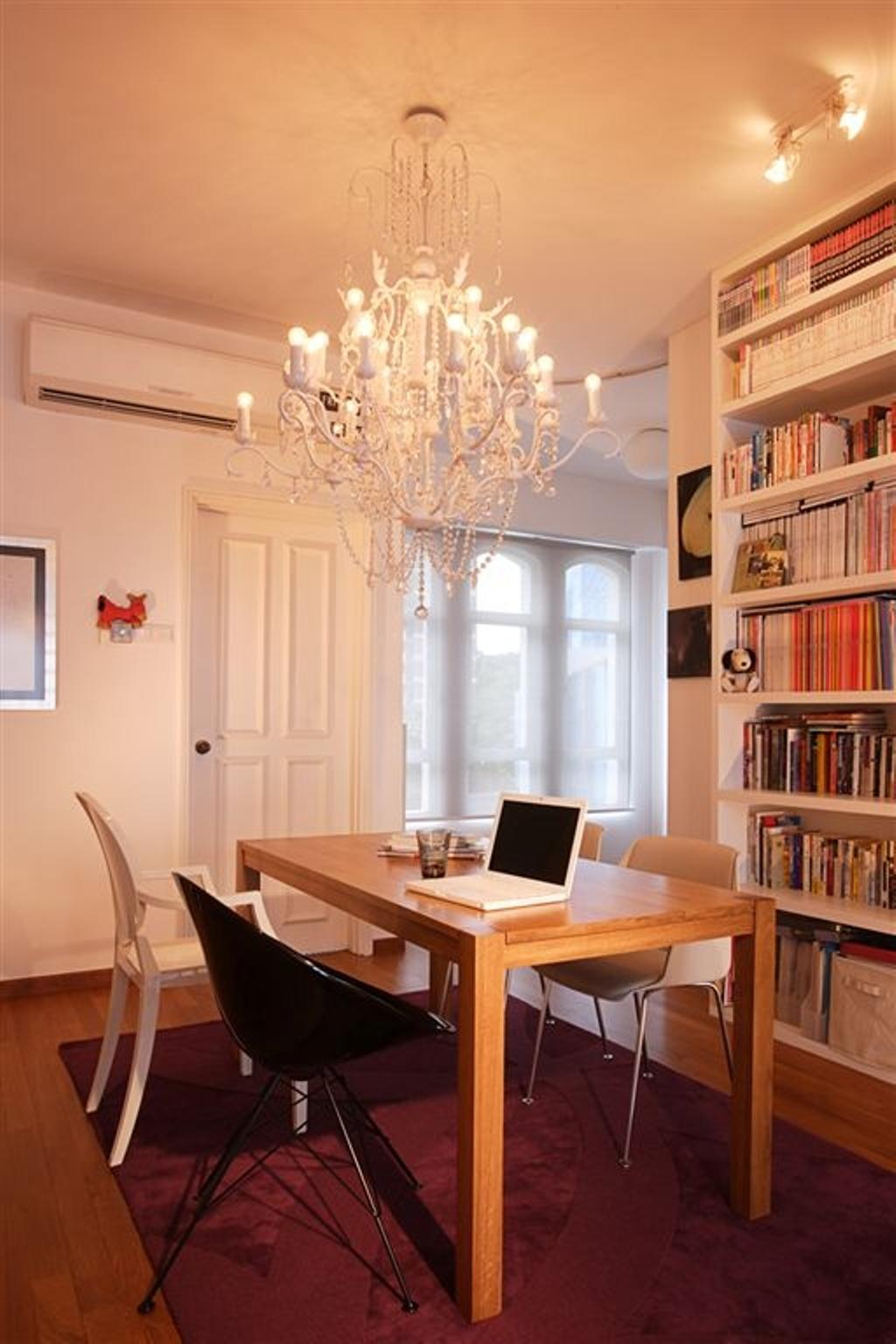 Eclectic, Condo, Dining Room, Chateau Le Fame, Interior Designer, Free Space Intent, Dining Table, Furniture, Table, Sink, Bookcase, Indoors, Interior Design, Room, Book