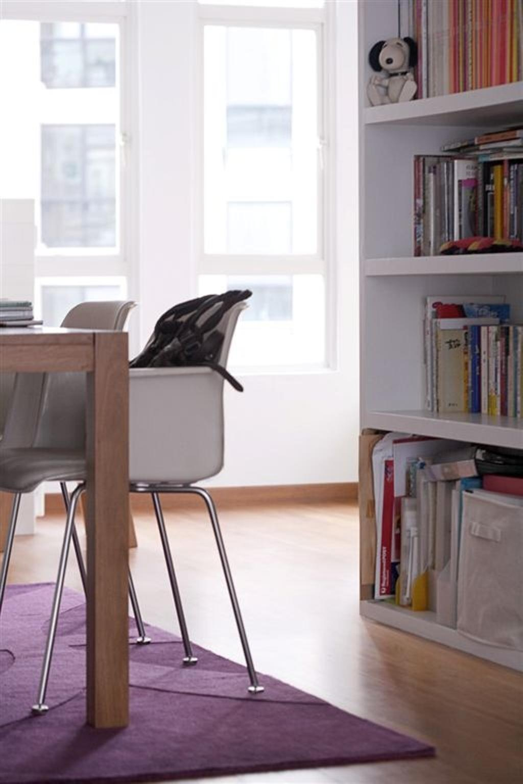 Eclectic, Condo, Dining Room, Chateau Le Fame, Interior Designer, Free Space Intent, Chair, Furniture, Bookcase, Shelf, Table