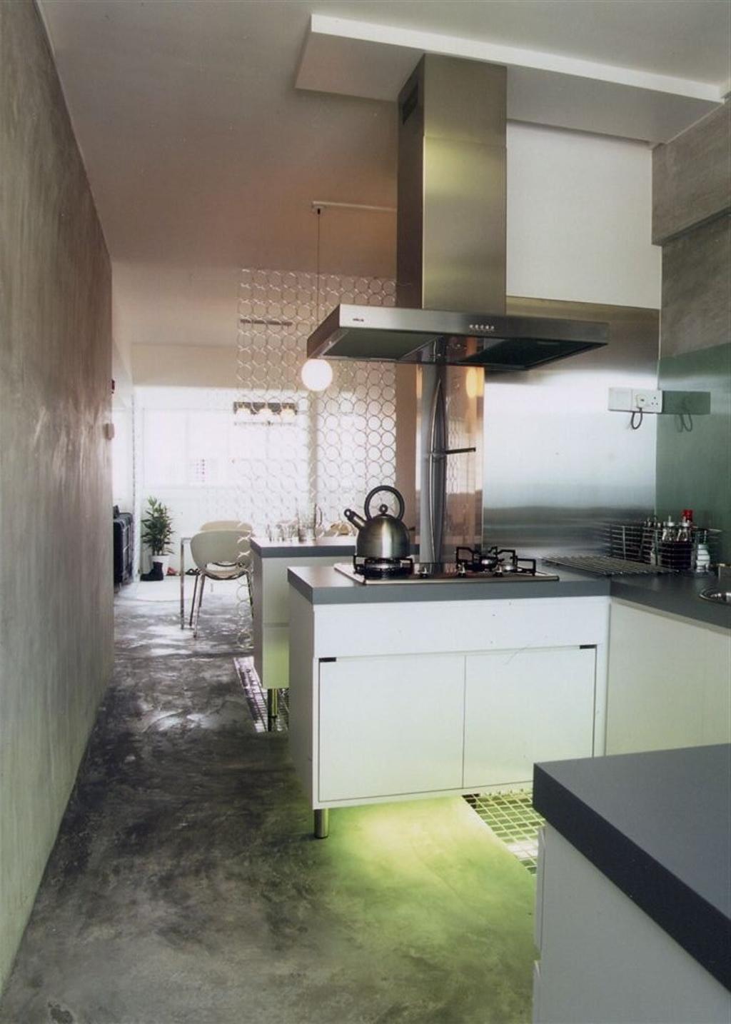 Industrial, HDB, Living Room, Tampines, Interior Designer, Free Space Intent