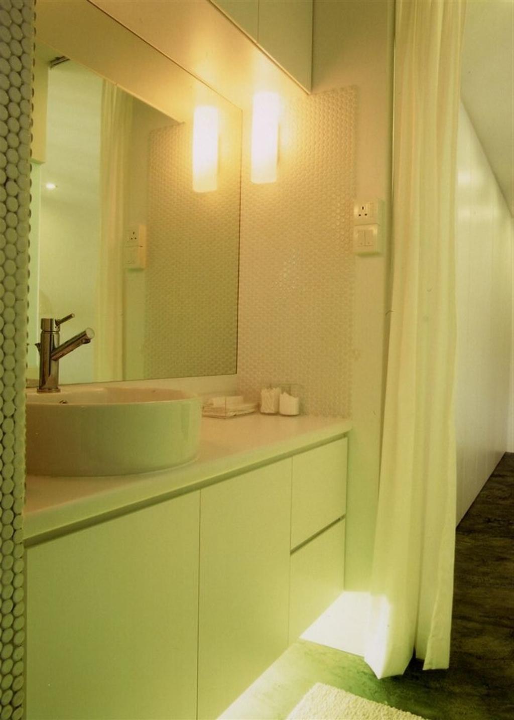 Industrial, HDB, Bathroom, Tampines, Interior Designer, Free Space Intent, Indoors, Interior Design, Room