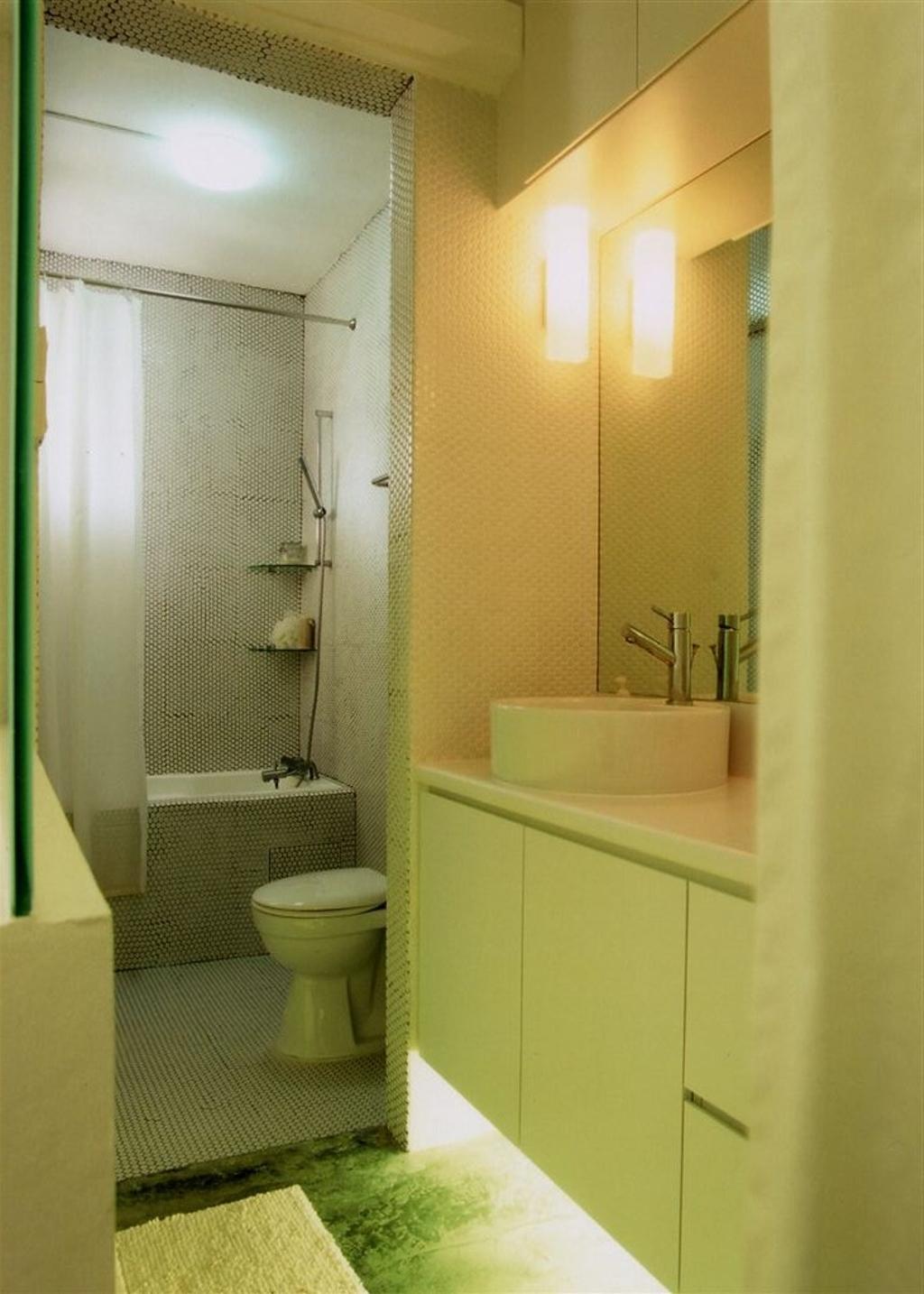 Industrial, HDB, Bathroom, Tampines, Interior Designer, Free Space Intent, Toilet, Indoors, Interior Design, Room, Bottle