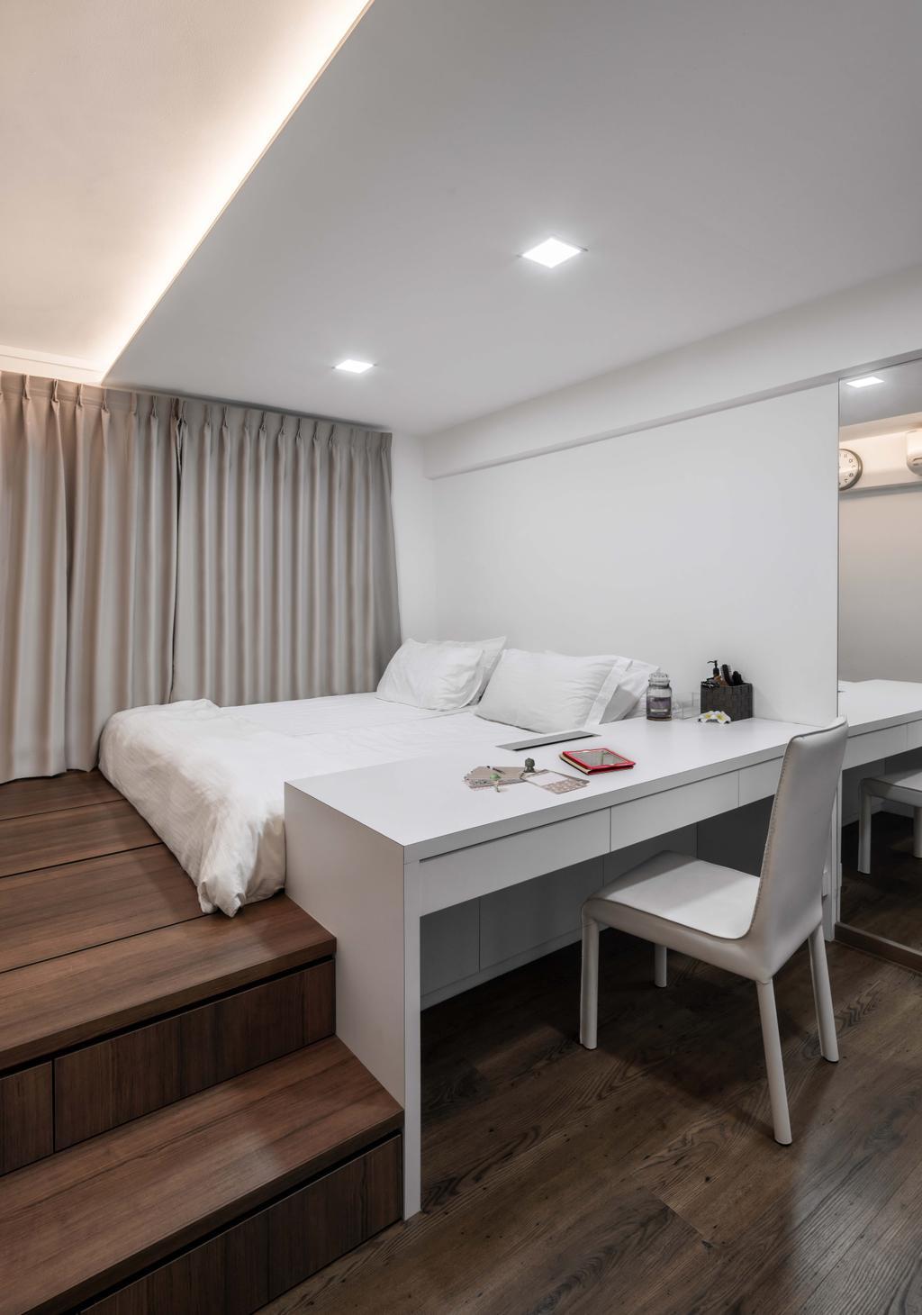Modern, HDB, Bedroom, Marsiling Drive, Interior Designer, Weiken.com, Indoors, Room, Furniture