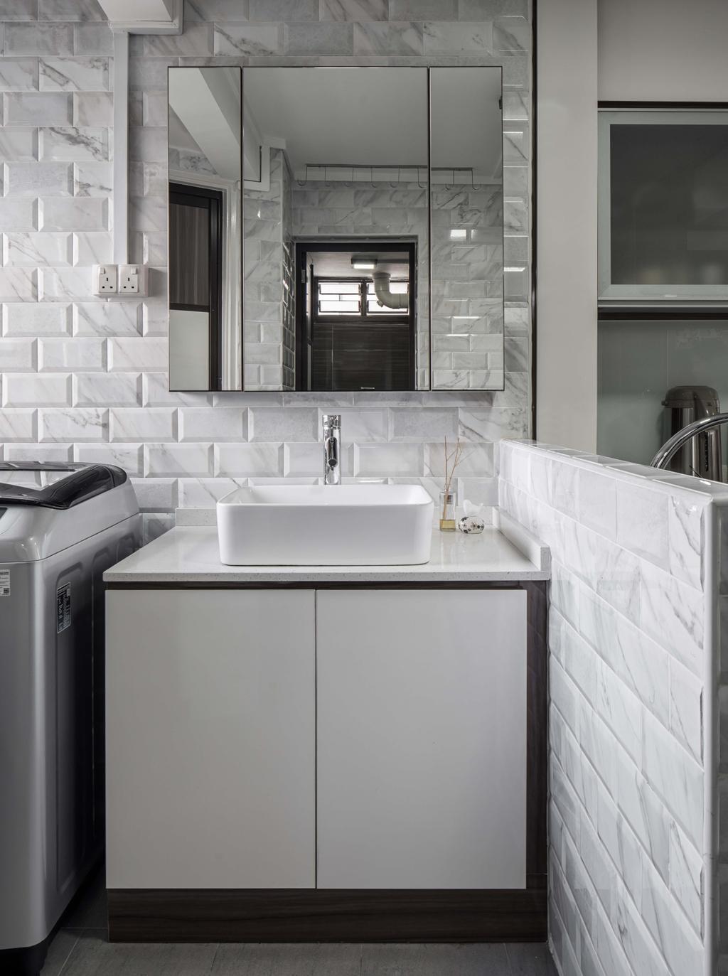 Modern, HDB, Kitchen, Marsiling Drive, Interior Designer, Weiken.com