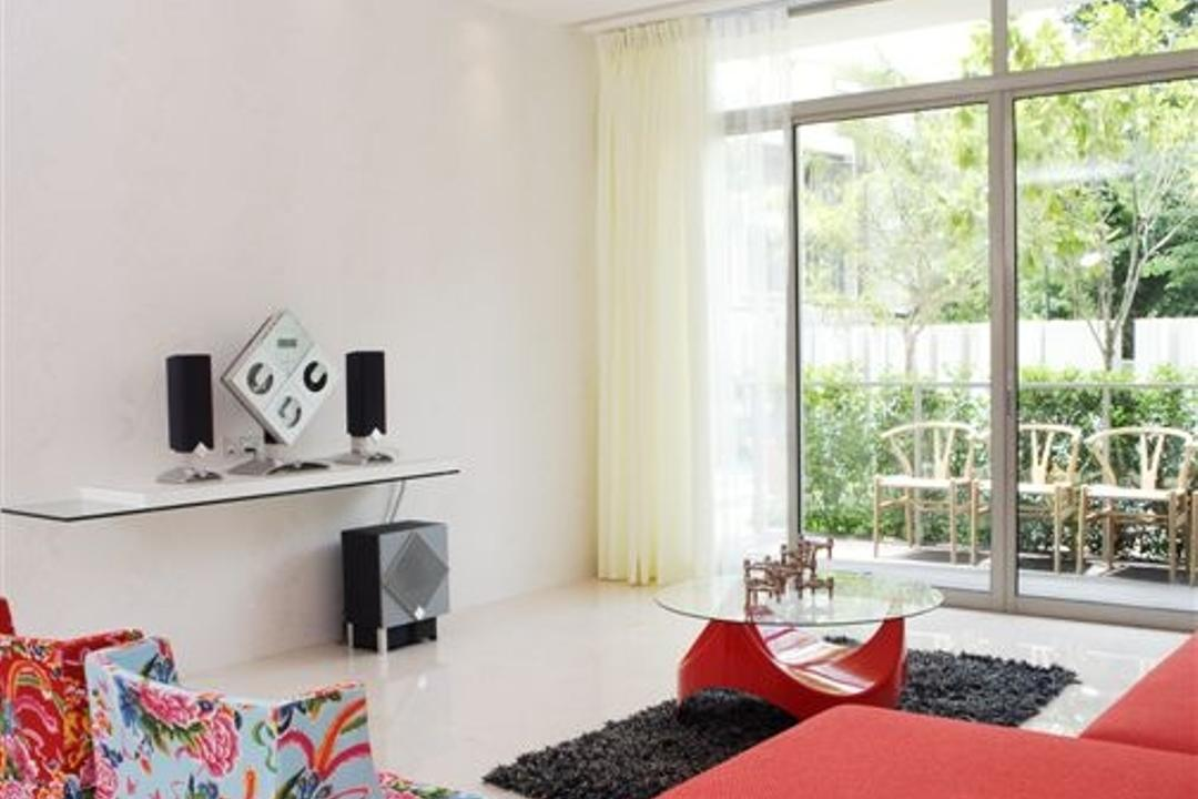 Tanglin Residence, Free Space Intent, Eclectic, Living Room, Condo, Flora, Jar, Plant, Potted Plant, Pottery, Vase, Premiere, Red Carpet, Red Carpet Premiere, Bedroom, Indoors, Interior Design, Room, Home Decor, Linen, Tablecloth, Window