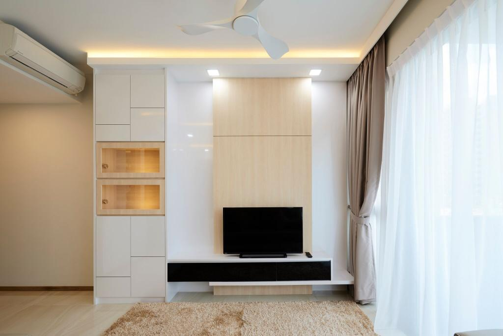 Modern, Condo, Living Room, The Vales, Interior Designer, Charlotte's Carpentry, Curtain, Home Decor, Indoors, Interior Design