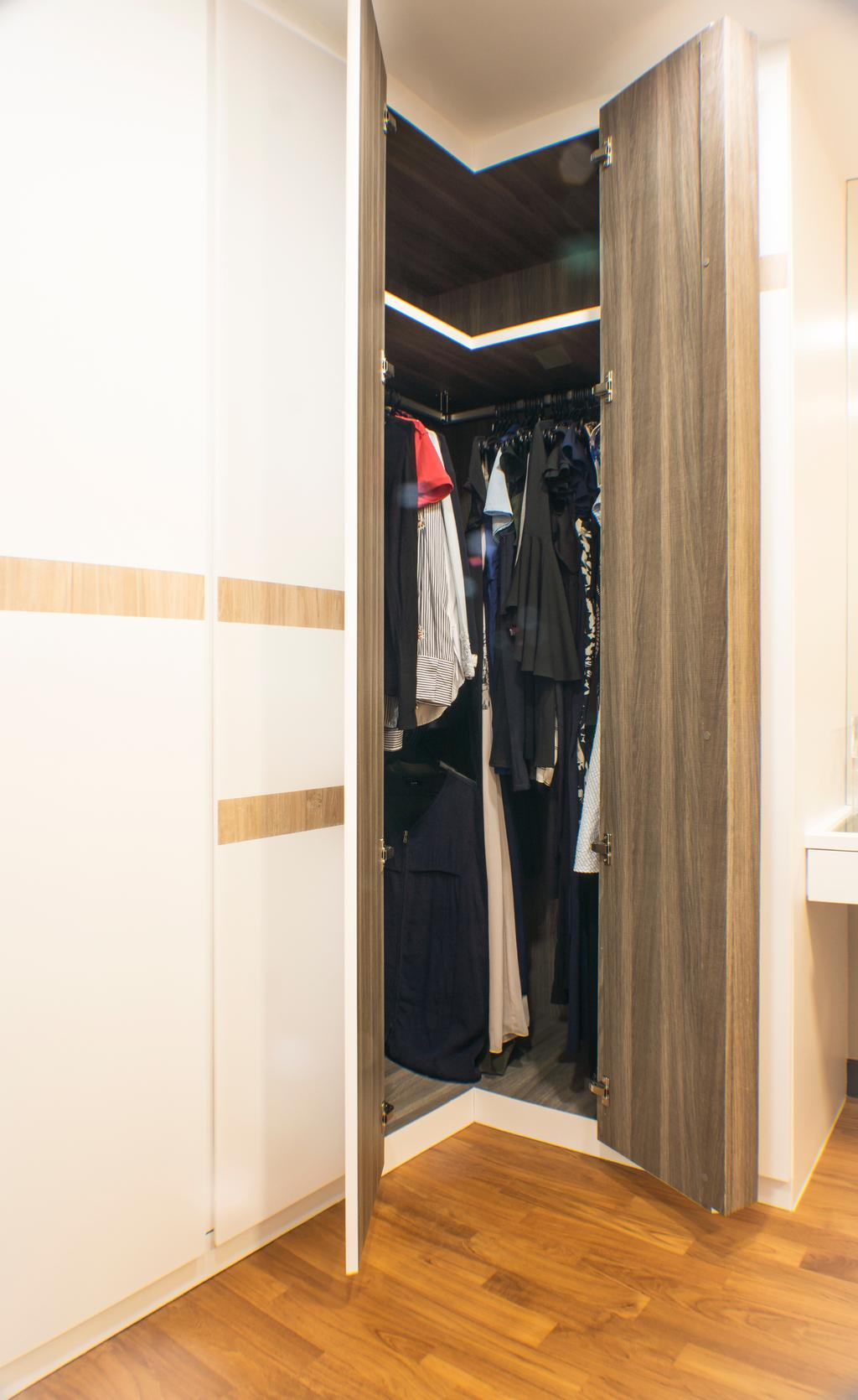 Modern, HDB, Bedroom, Sumang Lane, Interior Designer, Flo Design, Clothing, Coat