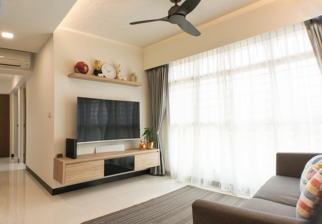Modern, HDB, Living Room, Sumang Lane, Interior Designer, Flo Design, Indoors, Interior Design