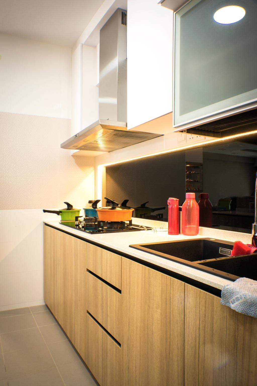 Modern, HDB, Kitchen, Sumang Lane, Interior Designer, Flo Design, Bottle, Indoors, Interior Design, Room