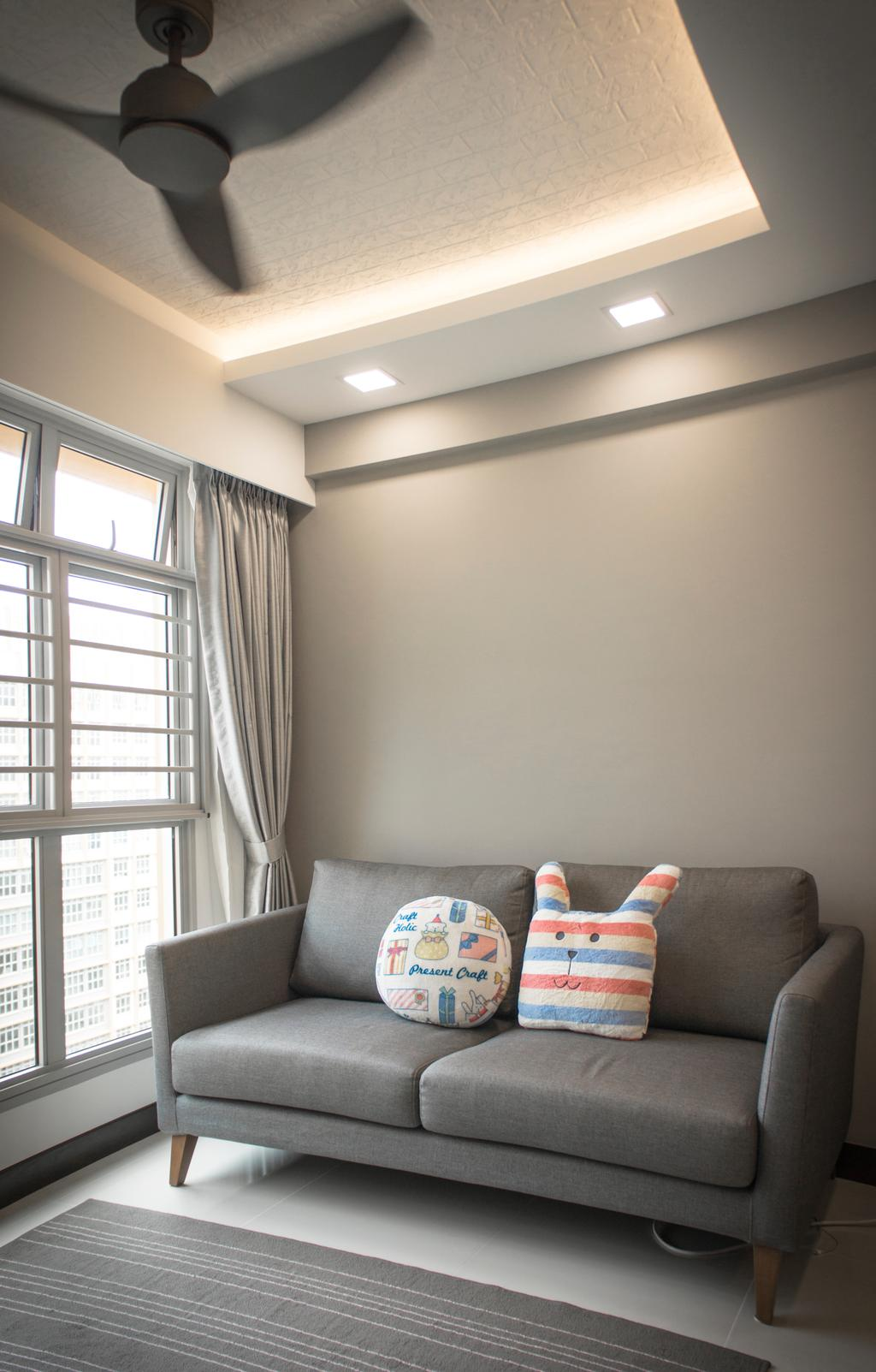 Modern, HDB, Living Room, Sumang Lane, Interior Designer, Flo Design, Couch, Furniture