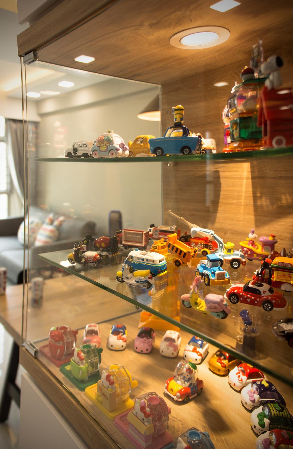 Modern, HDB, Living Room, Sumang Lane, Interior Designer, Flo Design, Bus, School Bus, Transportation, Vehicle, Toy, Motorcycle, Automobile, Car, Formula One, Race Car, Sports Car, Van