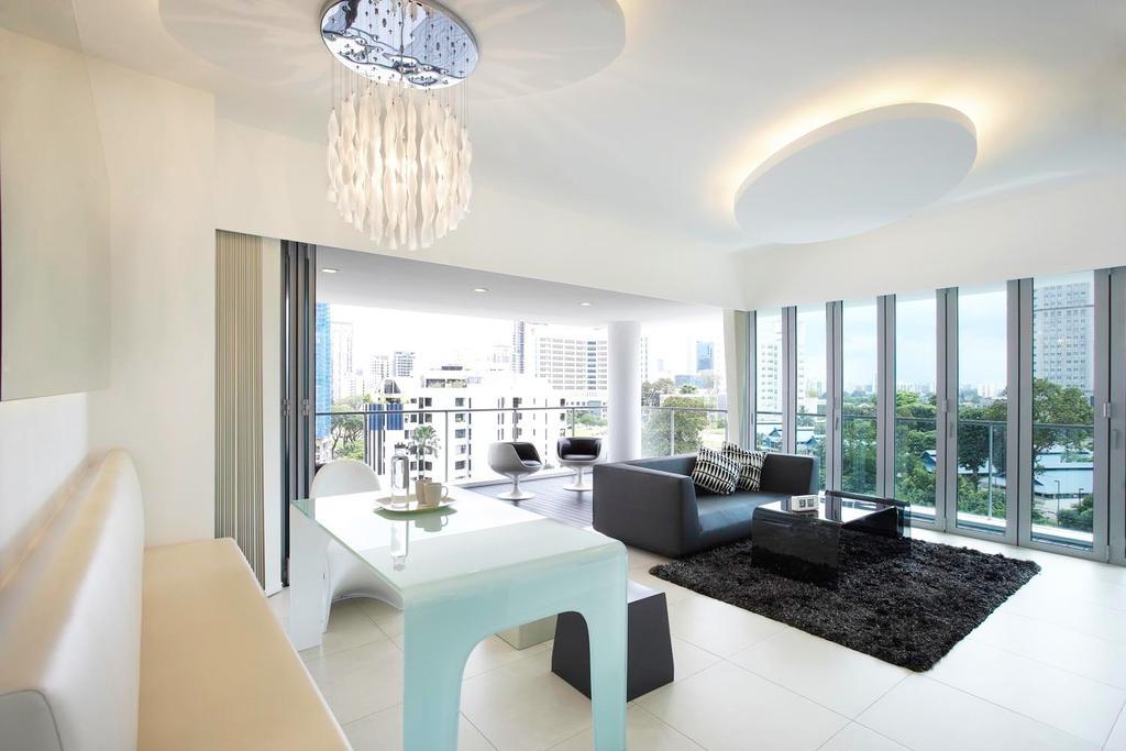 Contemporary, Condo, Living Room, Pavillion, Interior Designer, Free Space Intent, Dining Room, Indoors, Interior Design, Room, Couch, Furniture, Dining Table, Table