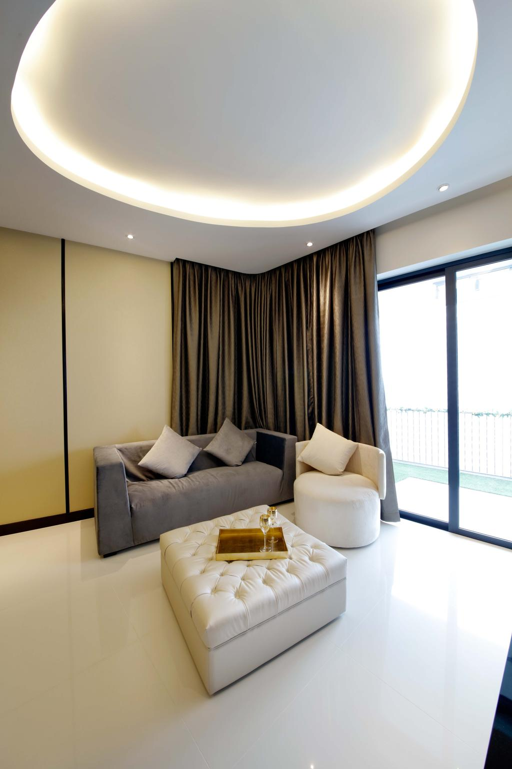 Contemporary, Condo, Living Room, D'Leedon, Interior Designer, Free Space Intent, Couch, Furniture, Indoors, Interior Design, Room, Chair
