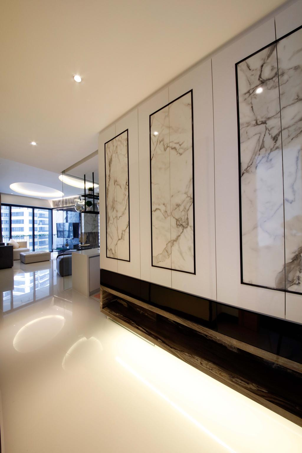 Contemporary, Condo, Living Room, D'Leedon, Interior Designer, Free Space Intent, Appliance, Electrical Device, Oven, Indoors, Interior Design