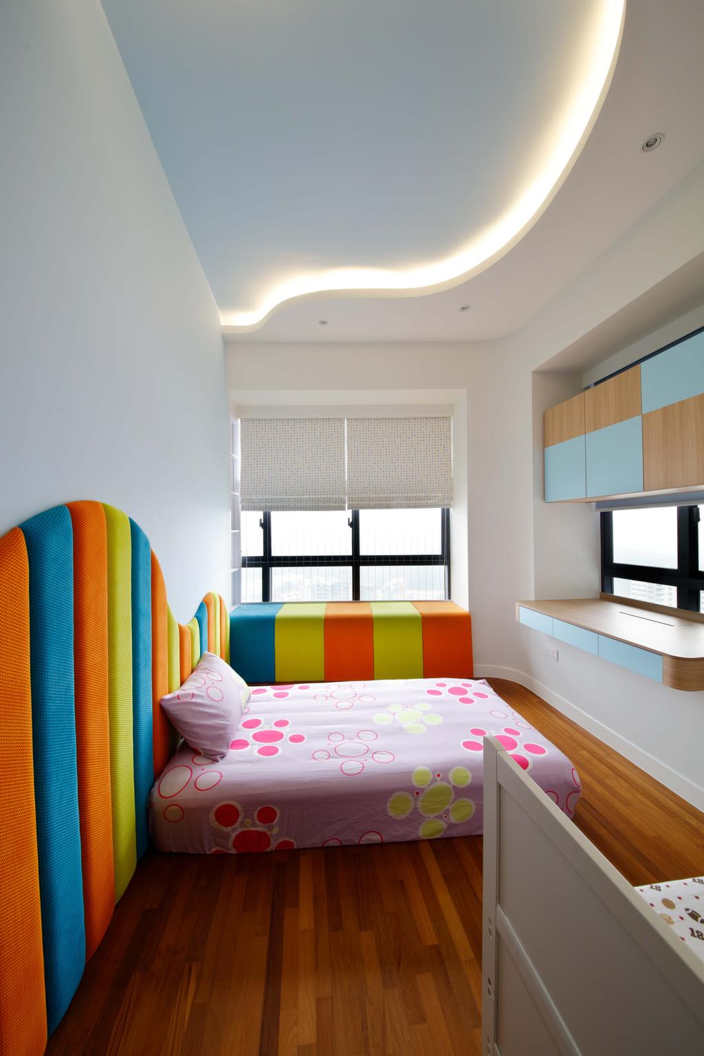 Contemporary, Condo, Bedroom, D'Leedon, Interior Designer, Free Space Intent, Chair, Furniture, Reception