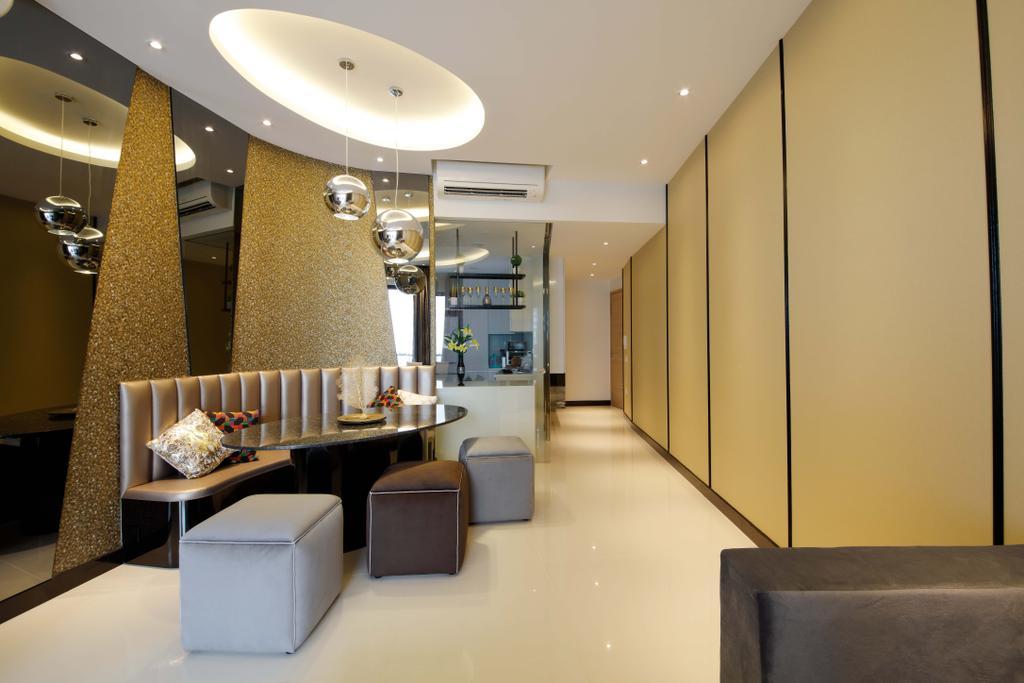 Contemporary, Condo, Dining Room, D'Leedon, Interior Designer, Free Space Intent, Indoors, Interior Design, Furniture, Ottoman