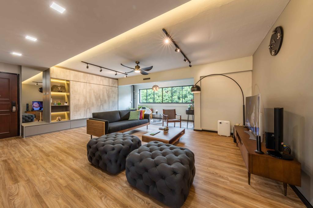 Industrial, Condo, Living Room, Florence Regency, Interior Designer, Ciseern, Indoors, Interior Design