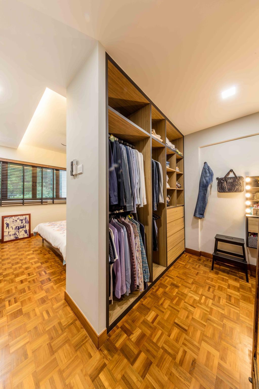 Industrial, Condo, Bedroom, Florence Regency, Interior Designer, Ciseern, Closet, Furniture, Wardrobe, Indoors, Interior Design, Room