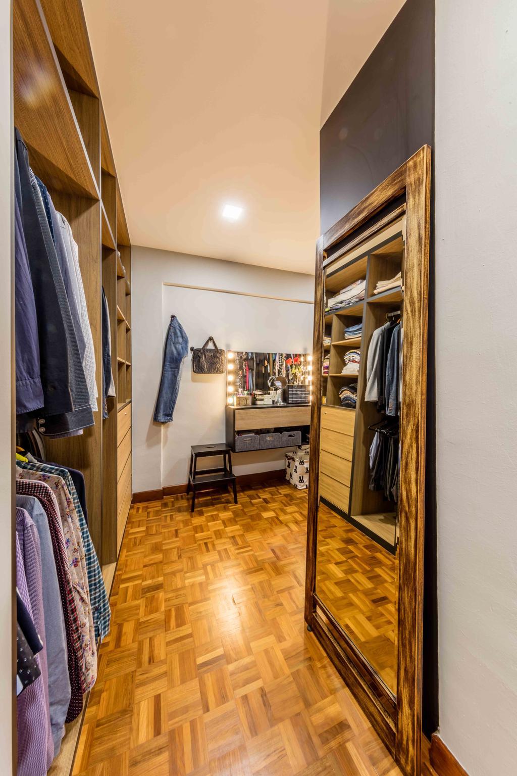 Industrial, Condo, Bedroom, Florence Regency, Interior Designer, Ciseern, Closet, Furniture, Wardrobe