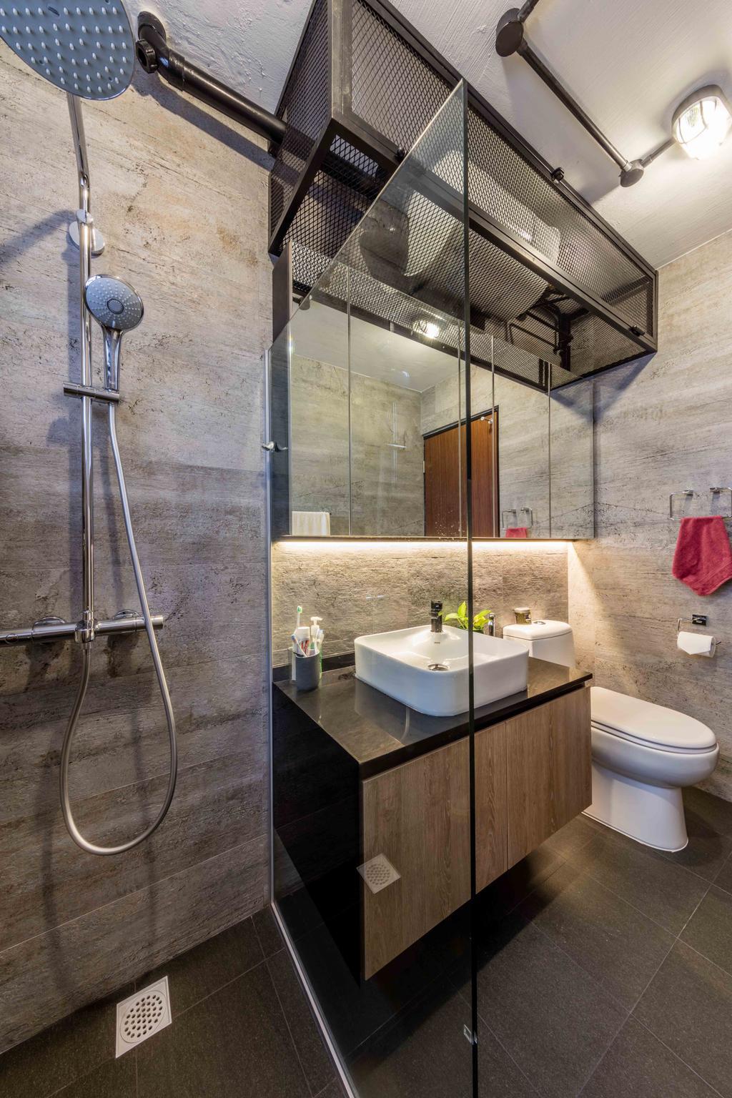 Industrial, Condo, Bathroom, Florence Regency, Interior Designer, Ciseern, Indoors, Interior Design, Room