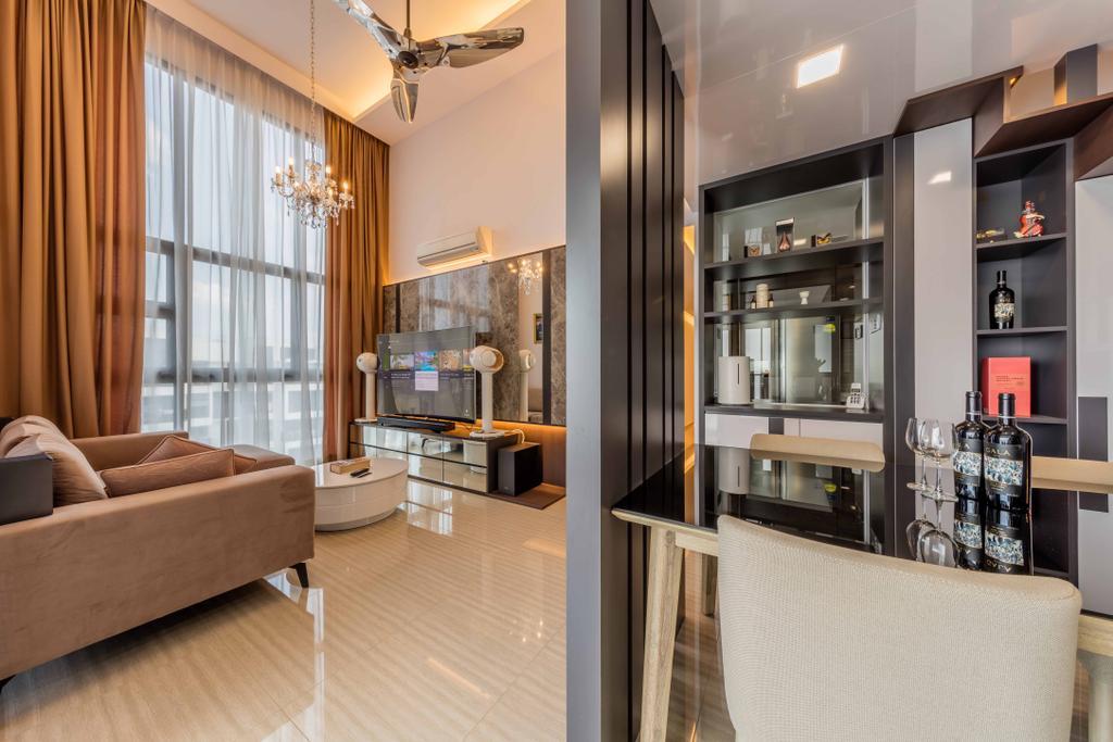 Contemporary, Condo, Living Room, Lush Acres, Interior Designer, Ciseern, Indoors, Interior Design, HDB, Building, Housing, Loft, Couch, Furniture