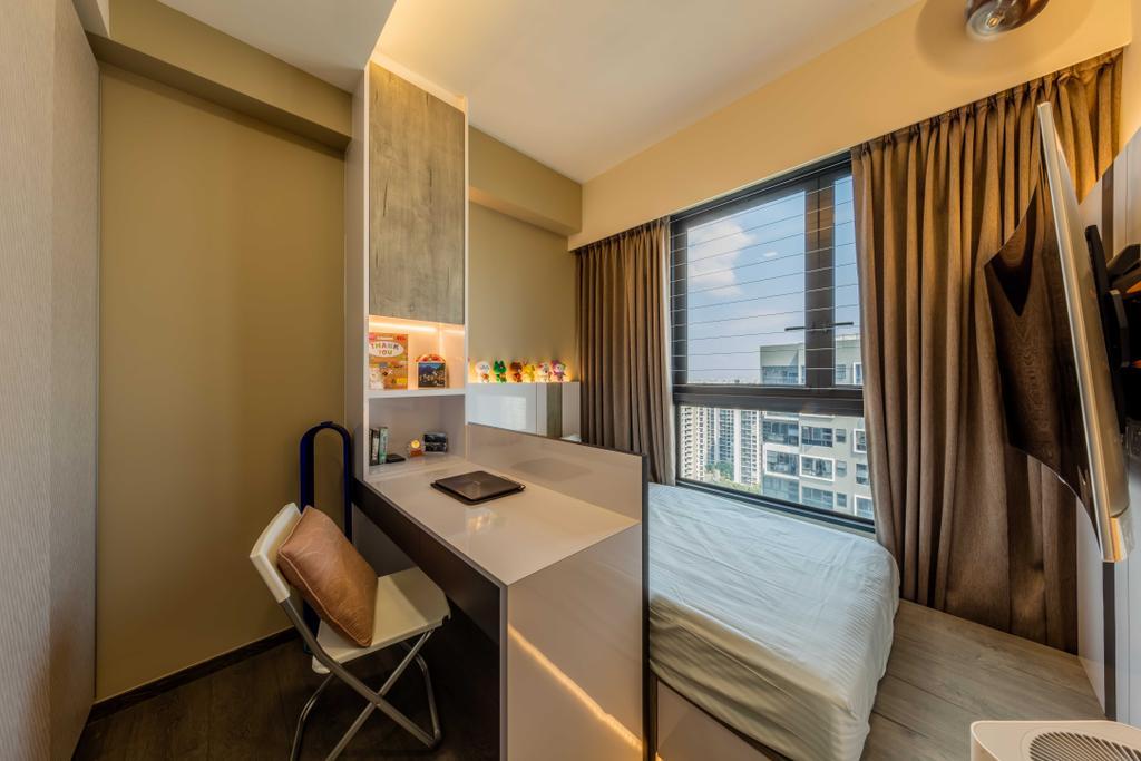 Contemporary, Condo, Study, Lush Acres, Interior Designer, Ciseern, Chair, Furniture, Indoors, Room, Interior Design