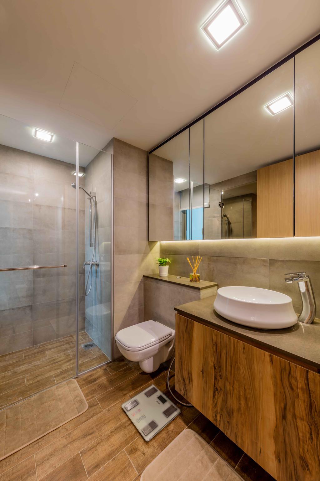 Industrial, Condo, Bathroom, Ripple Bay, Interior Designer, Ciseern, Toilet, Indoors, Interior Design, Room, Sink