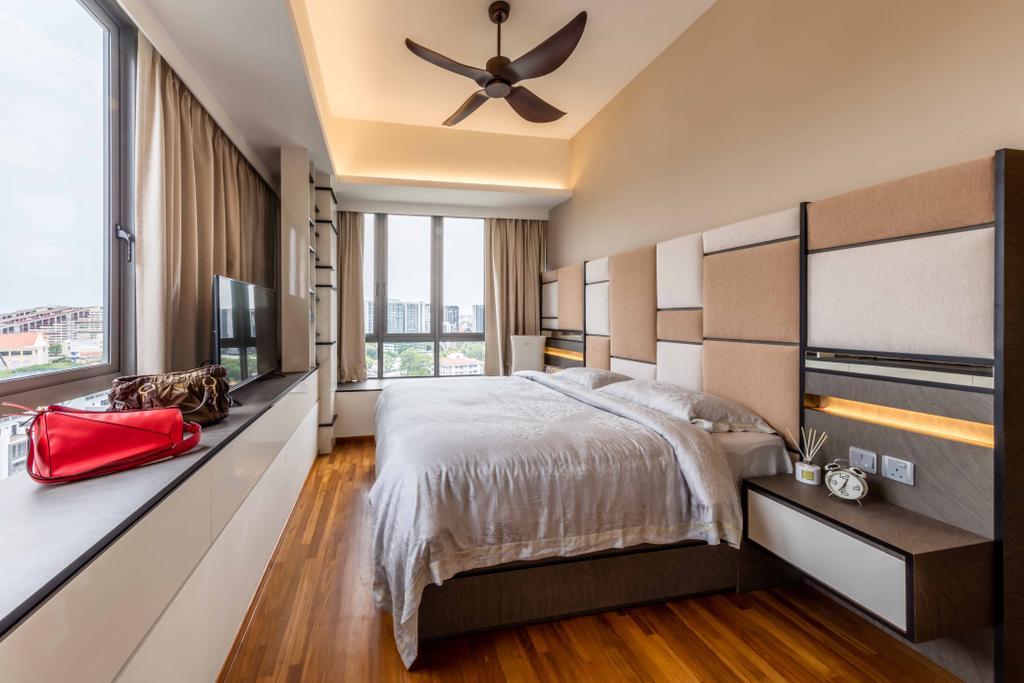 Modern, Condo, Bedroom, Riverside Melodies, Interior Designer, Ciseern, Bed, Furniture, Indoors, Interior Design, Room