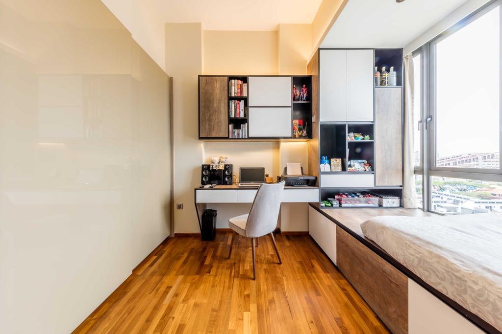 Modern, Condo, Study, Riverside Melodies, Interior Designer, Ciseern, Flooring