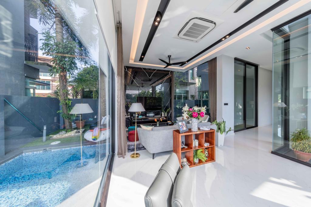 Contemporary, Landed, Living Room, Springleaf Crescent, Interior Designer, Ciseern, Sink