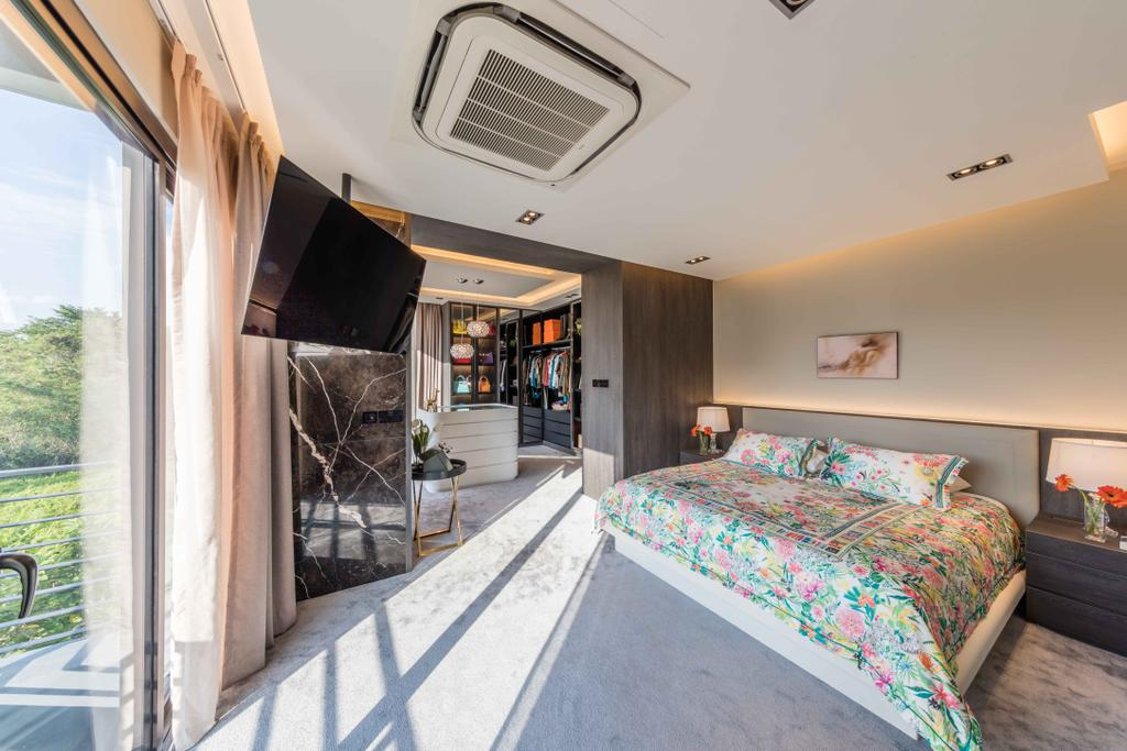 Contemporary, Landed, Bedroom, Springleaf Crescent, Interior Designer, Ciseern, Architecture, Building, Skylight, Window