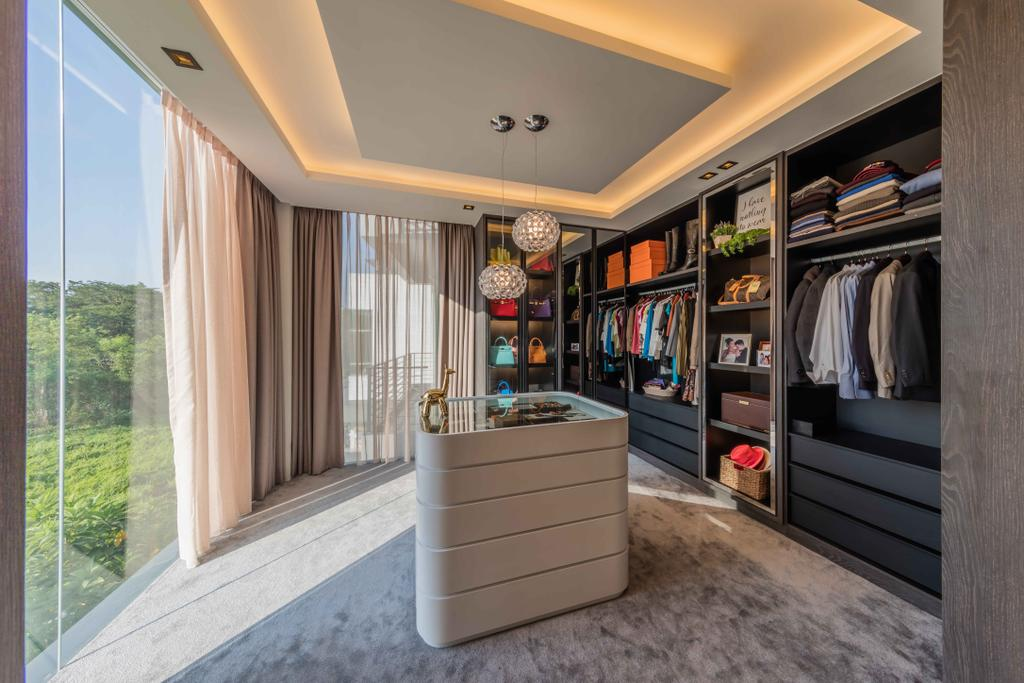 Contemporary, Landed, Bedroom, Springleaf Crescent, Interior Designer, Ciseern, Closet, Furniture, Wardrobe, Door, Folding Door