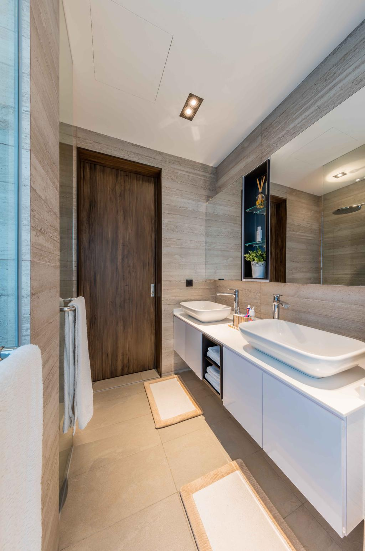 Contemporary, Landed, Bathroom, Springleaf Crescent, Interior Designer, Ciseern, Sink, Indoors, Interior Design, Room, Towel, Jacuzzi, Tub