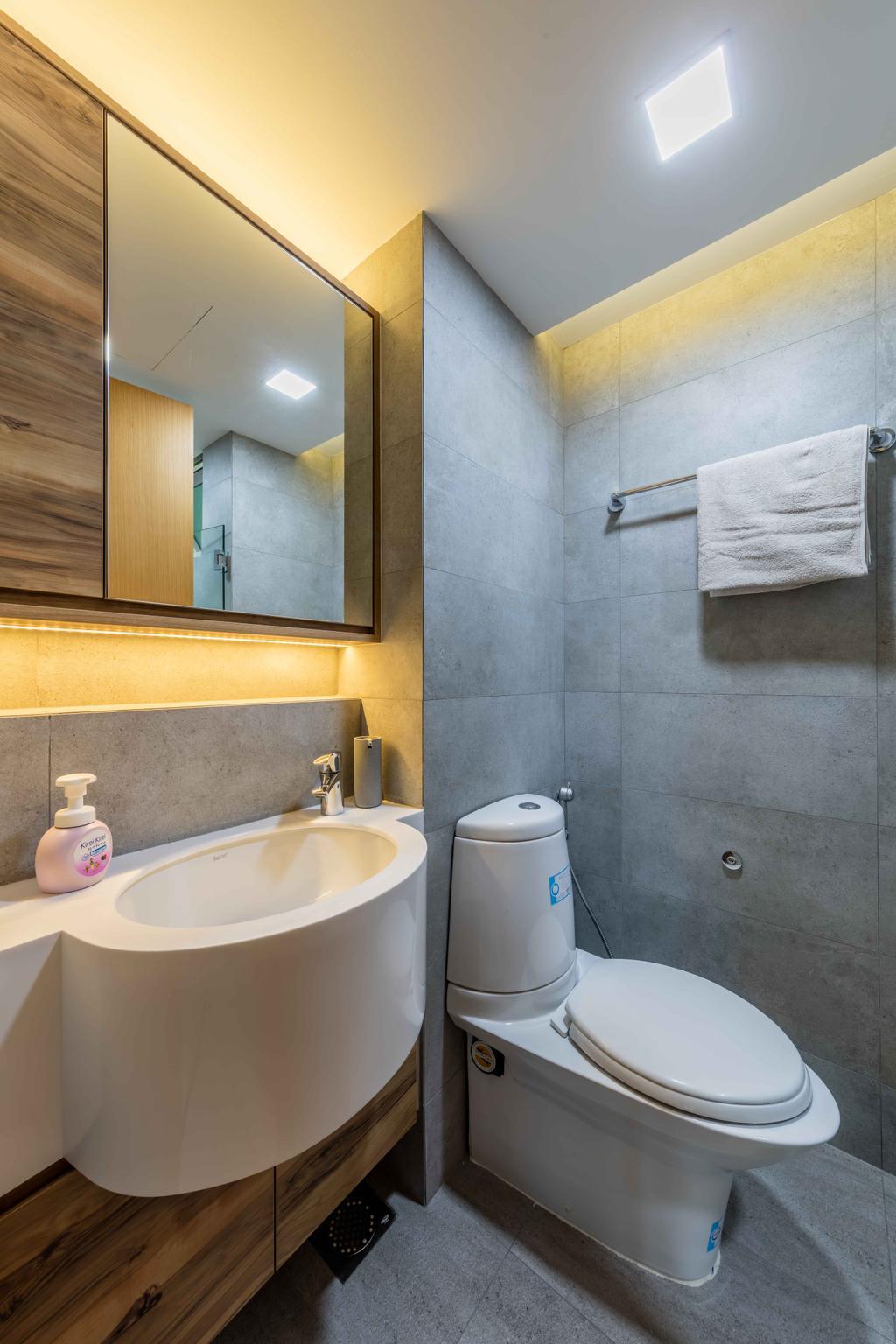 Contemporary, Condo, Bathroom, The Quartz, Interior Designer, Ciseern, Indoors, Interior Design, Room, Towel
